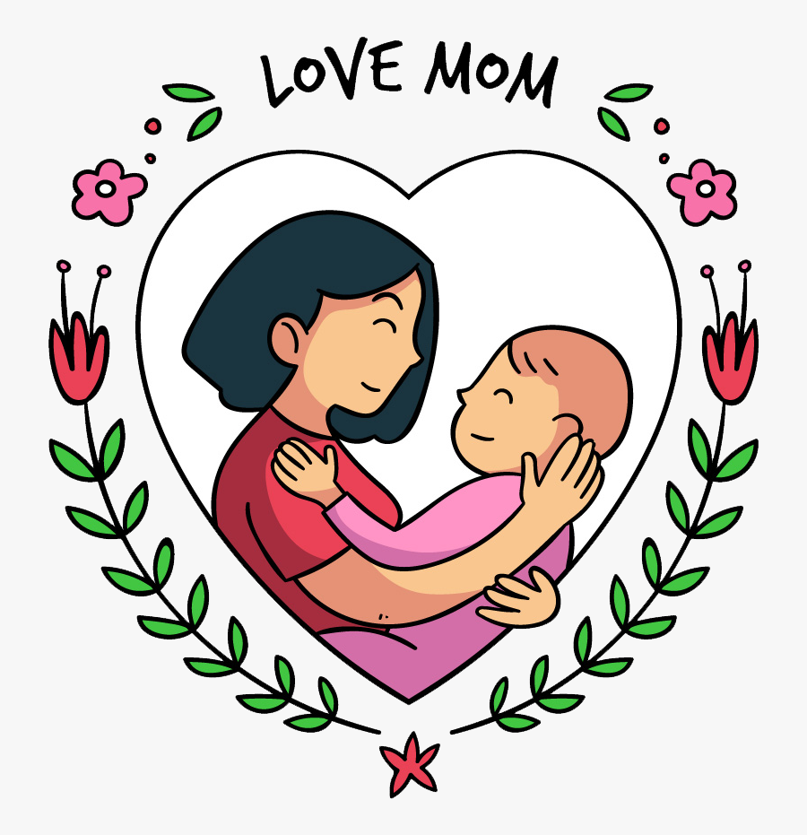Clip Art Mothers Day Clipart Free - Mother Day Cartoon Png, Transparent Clipart