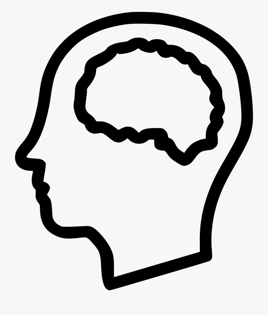 Transparent Mind Clipart Black And White - Mind White Icon Png, Transparent Clipart