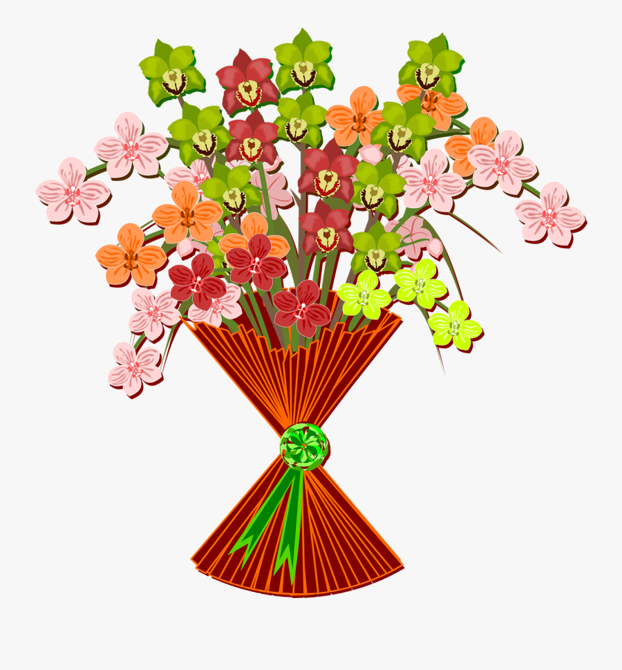 """Free To Use Amp Public Domain Mother""""s Day Clip Art - Drawing Clipart Flower Bouquet, Transparent Clipart"""