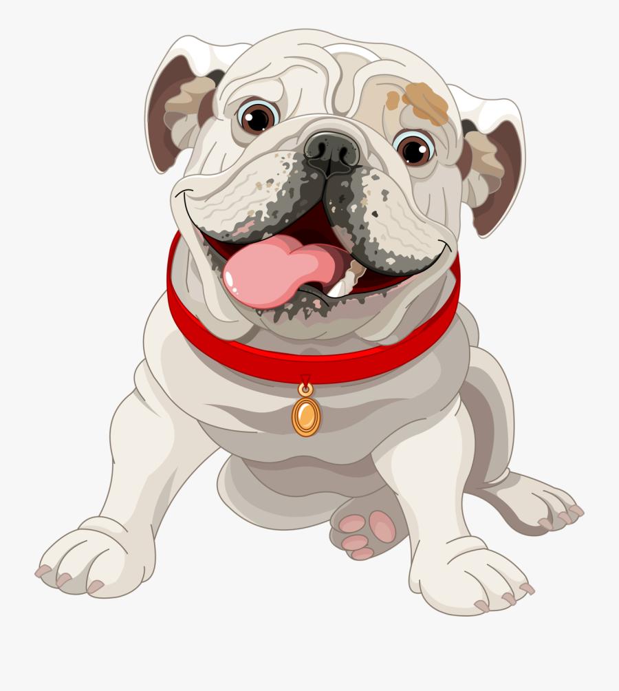 Cute Bulldog Dog Illustration French Puppy Clipart - Bulldog Illustration, Transparent Clipart