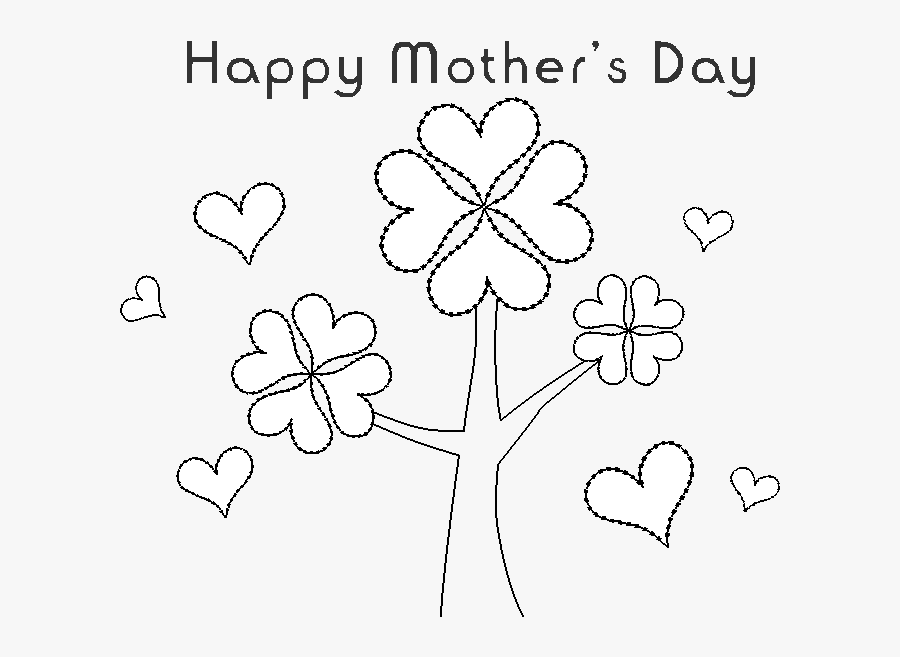 Printable Coloring Pages For Mother S Day - Happy Mother's Day Dessin, Transparent Clipart