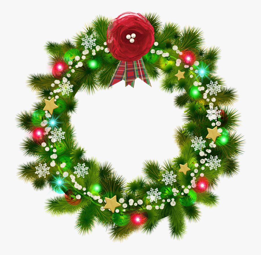 Christmas Wreath Transparent Background Png - Transparent Background Christmas Wreath Clipart, Transparent Clipart