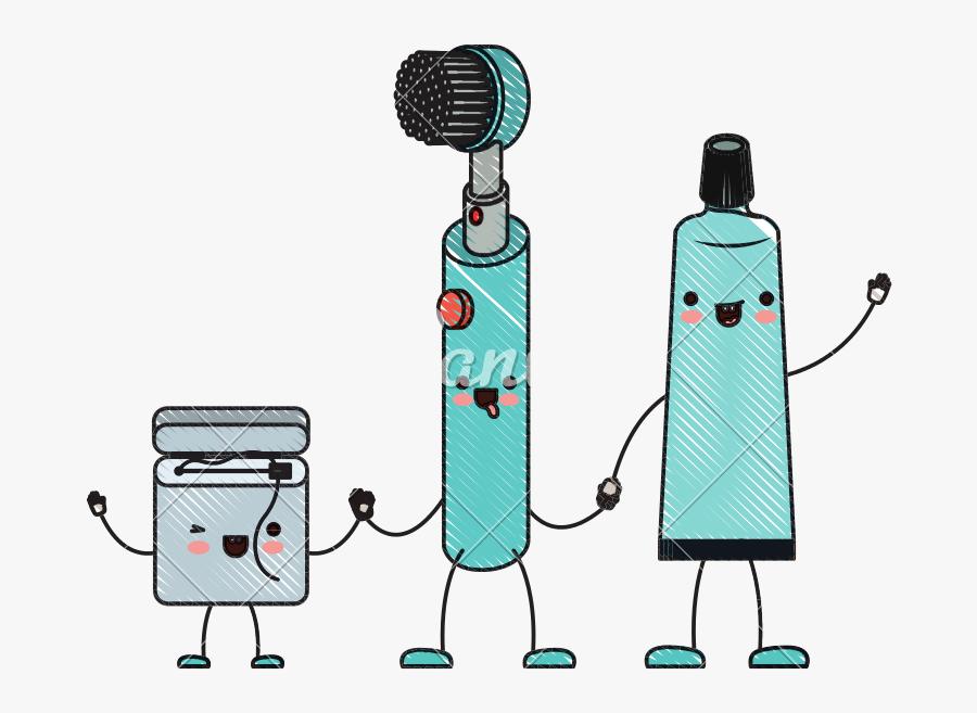 Transparent Toothbrush Clipart - Dibujo De Cepillo De Dientes Animado, Transparent Clipart