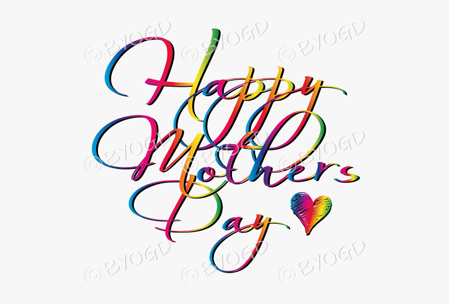 Happy Mother S Rainbow - Happy Mothers Day Designer, Transparent Clipart