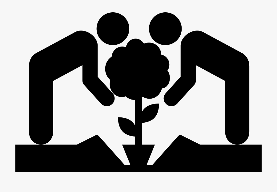 Planting A Tree Clip Freeuse - Tree Planting Icon Png, Transparent Clipart