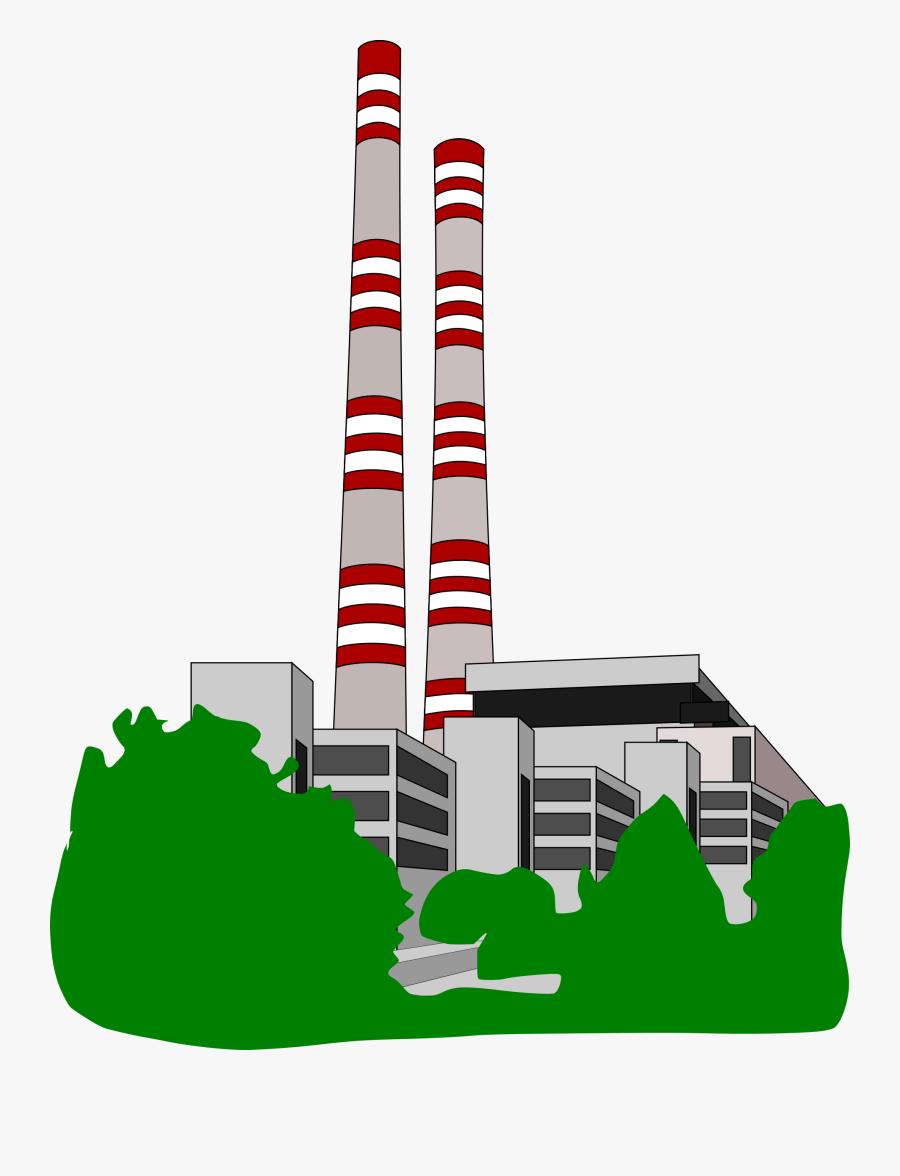 Factory Clipart Free Clip Art Of 8 Clipartwork - Power Station Clip Art, Transparent Clipart