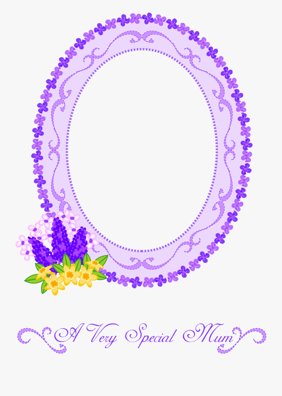 Frame Clipart Mothers Day - Mothers Day Border Circle, Transparent Clipart