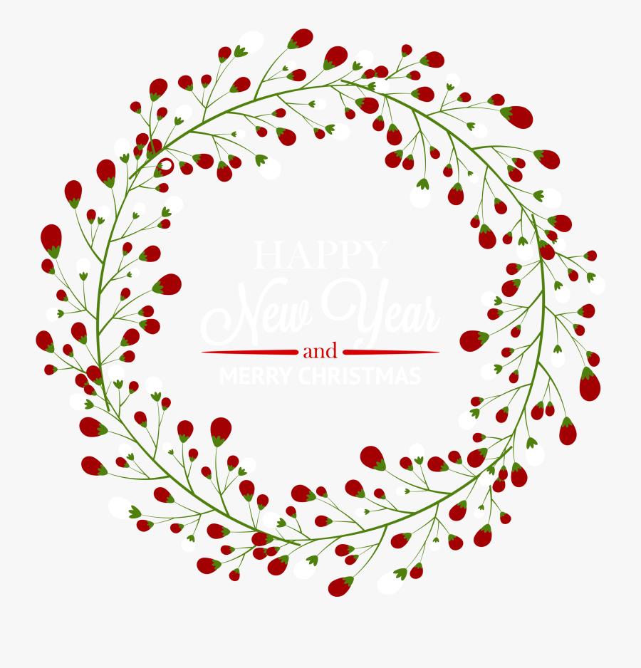 Christmas Deco Wreath Png Clipart - Wreath, Transparent Clipart