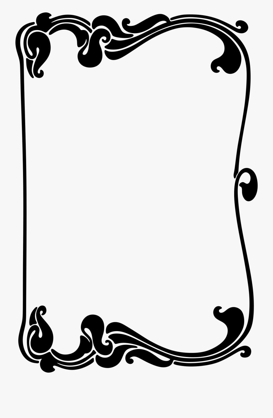 Decorative Border Clipart Art Nouveau - Free Art Nouveau Border Vector, Transparent Clipart