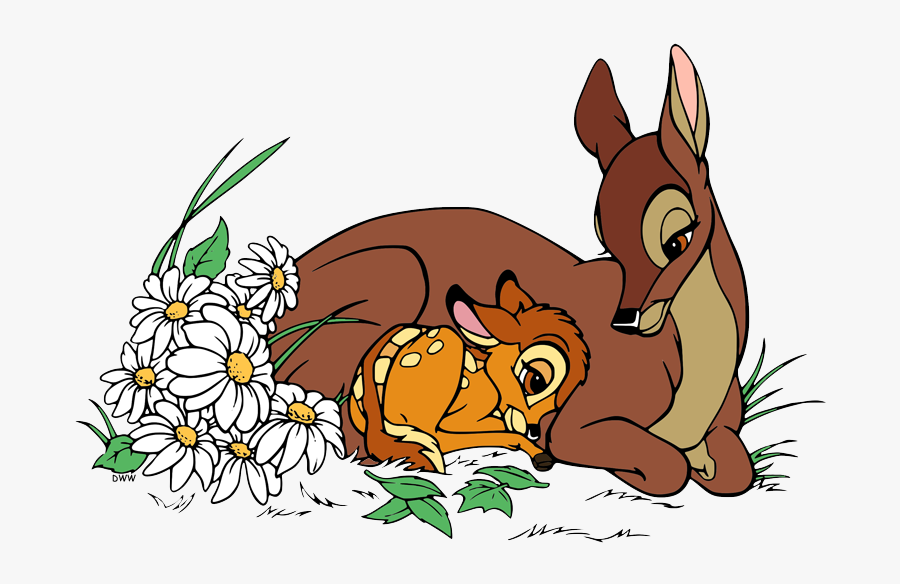 Bambi And His Mom, Transparent Clipart