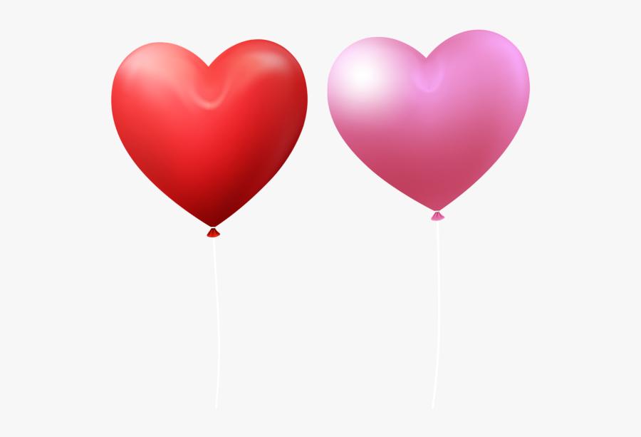 Transparent Valentine Balloons Clipart - Heart, Transparent Clipart