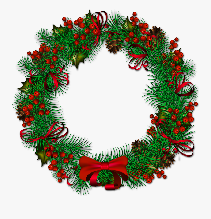 Christmas Pinecone With Red Ribbon Is Available - 2 Days To Christmas, Transparent Clipart