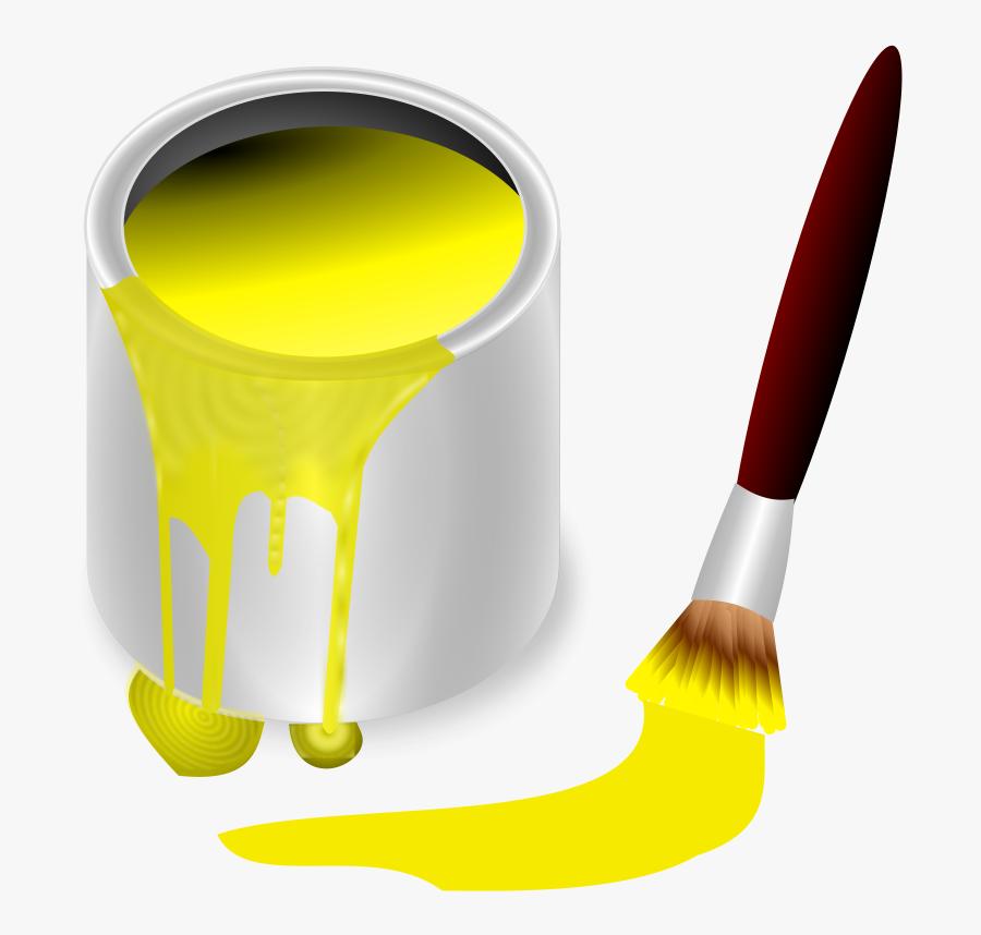 Yellow Paint Clipart, Transparent Clipart