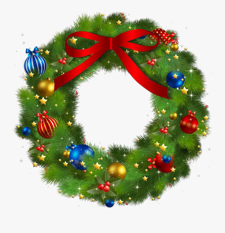 Wreath Clipart Christmas Wreaths - Transparent Christmas Wreath Clip, Transparent Clipart