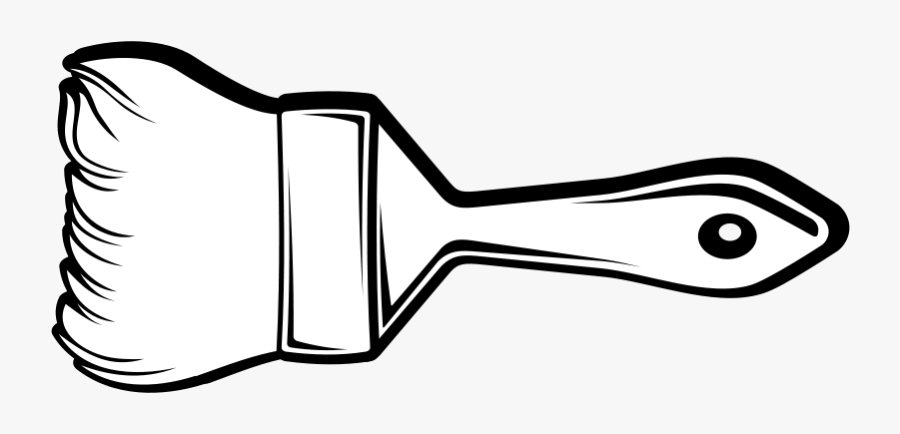 Thumb Image - Paint Brush Clipart Black And White, Transparent Clipart