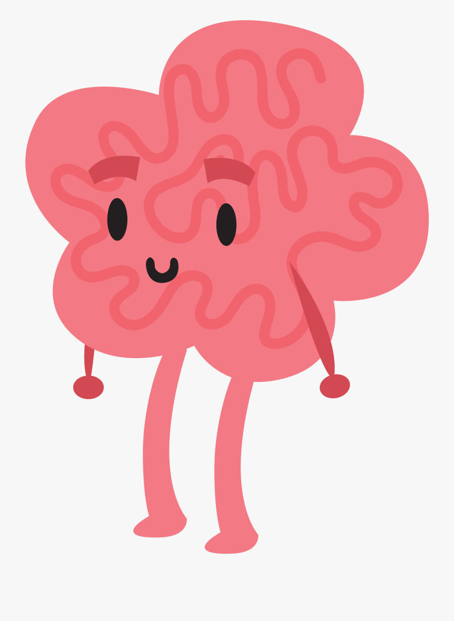 Brain Clipart Animated - Brain Character Png, Transparent Clipart