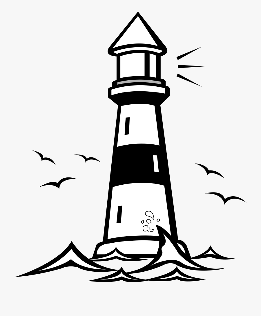 Lighthouse Clip Art Free Printable Free Clipart - Lighthouse Clipart Black And White, Transparent Clipart