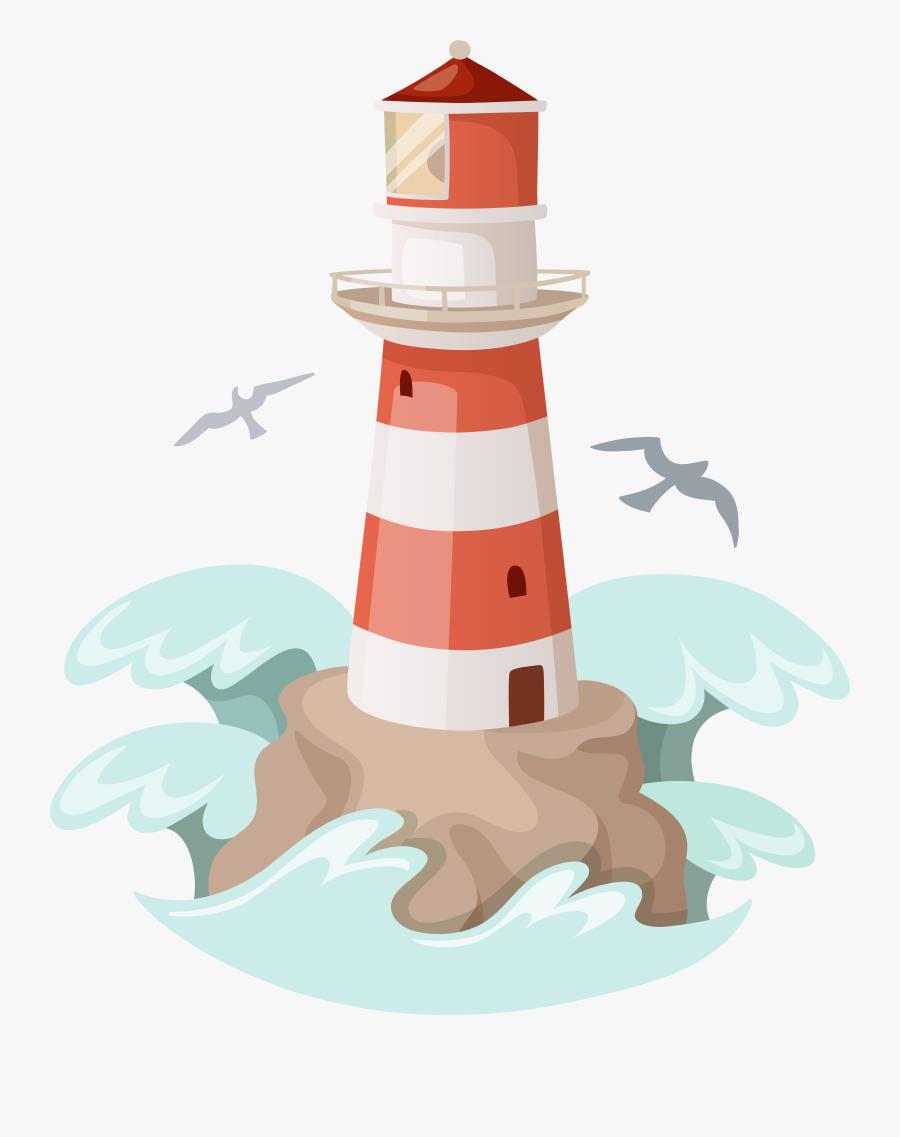 Lighthouse Clipart Image - Transparent Background Lighthouse Clipart, Transparent Clipart
