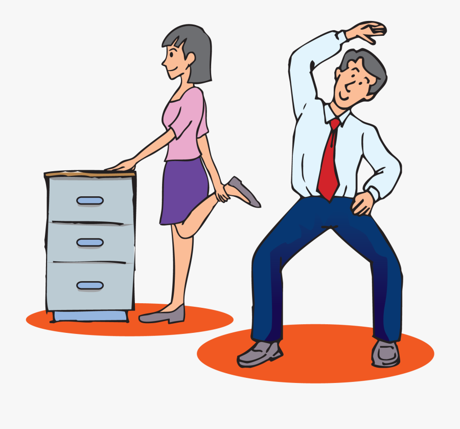Exercise In The Workplace Stretching At Work Cartoon Free Transparent Clipart Clipartkey