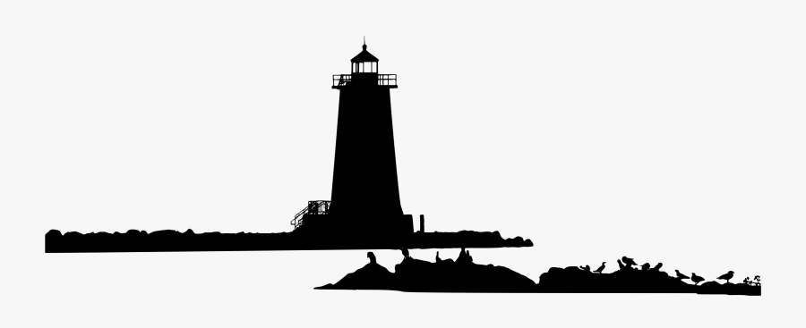 Lighthouse Clipart , Png Download - Black And White Lighthouse Silhouette, Transparent Clipart