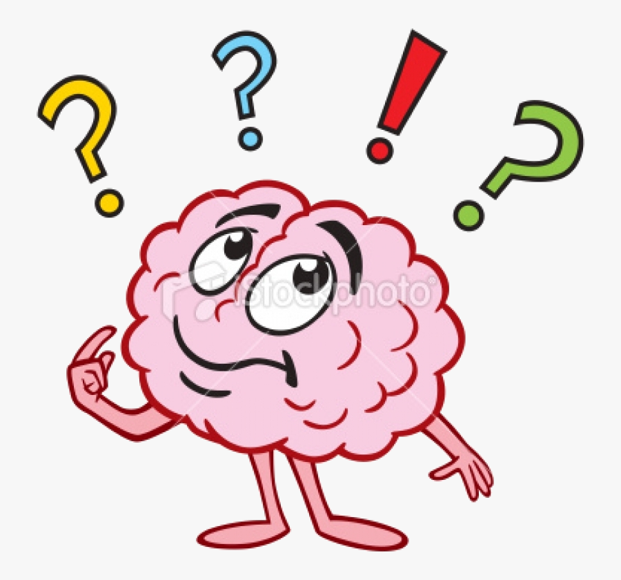 Thinking Brain Clipart For Kids Photo Images Free Transparent - Thinking Brain Question Mark, Transparent Clipart