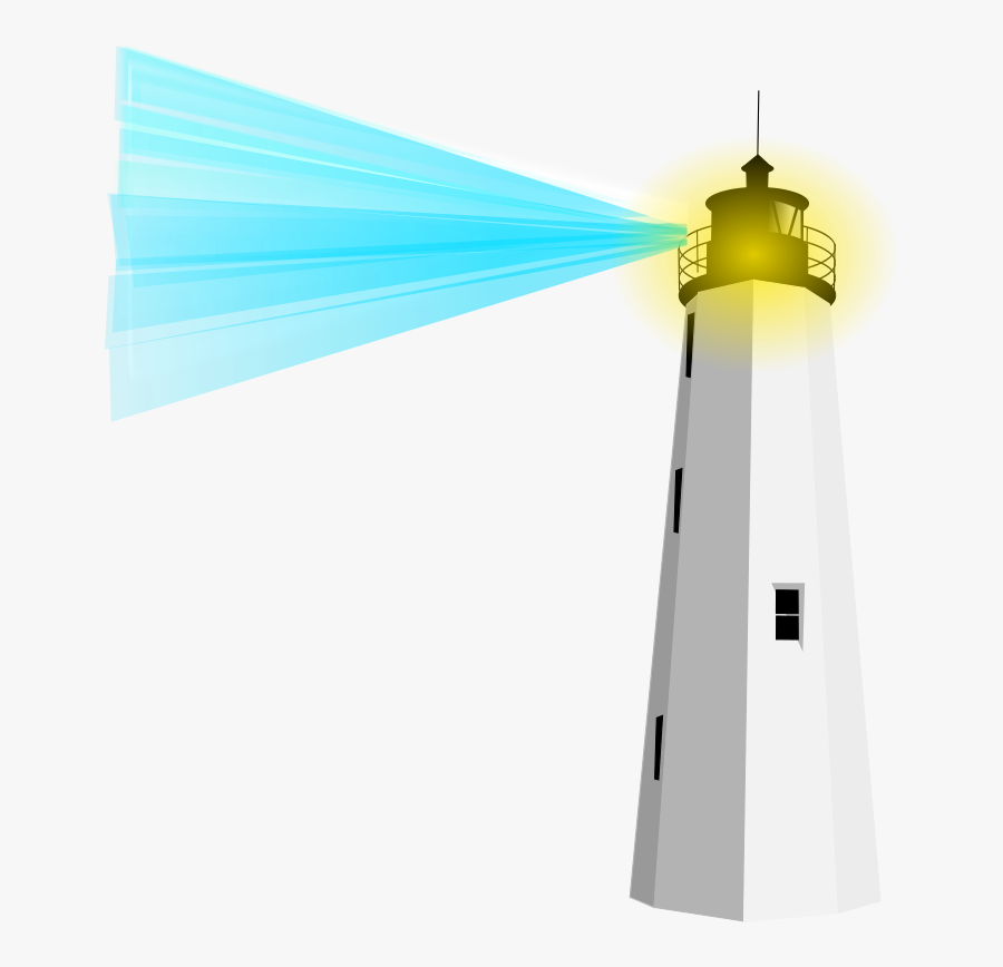 Lighthouse Beacon Free Clipart - Lighthouse With Beacon Clipart, Transparent Clipart