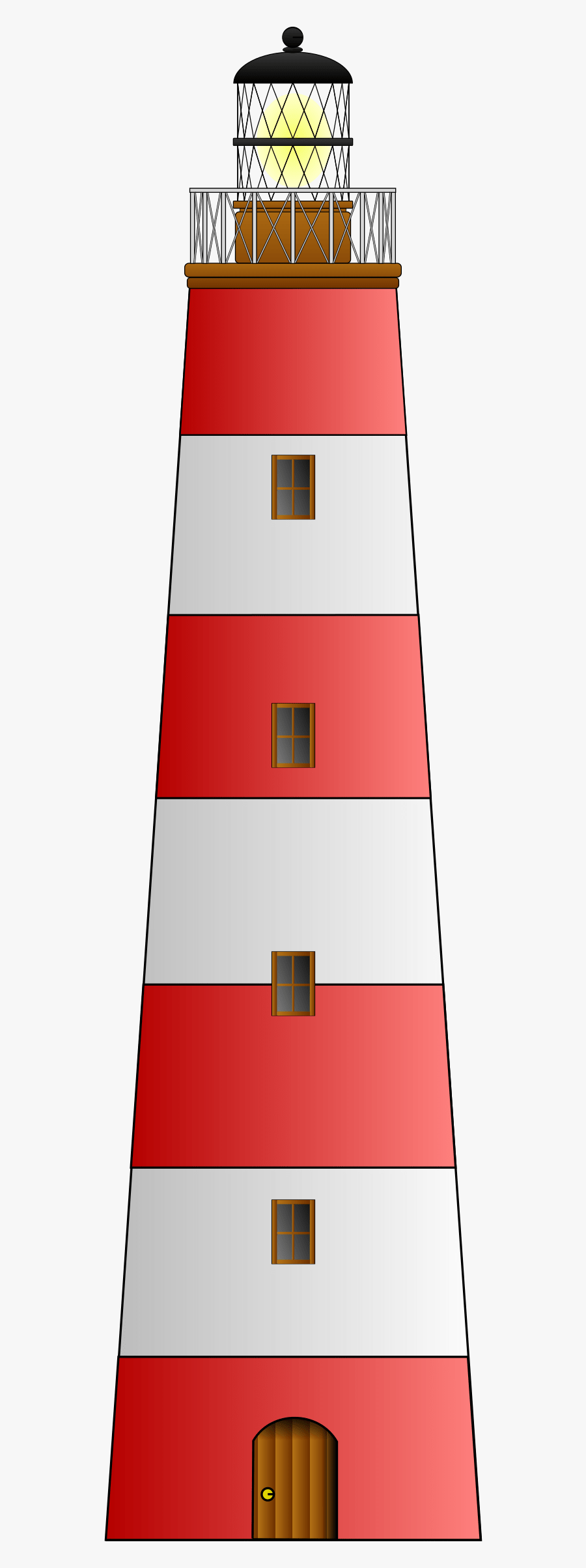 Red White Lighthouse Clipart - Lighthouse Clipart, Transparent Clipart