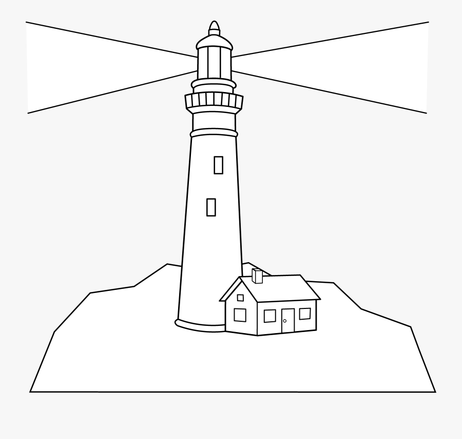 Lighthouse Clipart Black And White Free Clipartandscrap - Clipart Lighthouse Black And White, Transparent Clipart