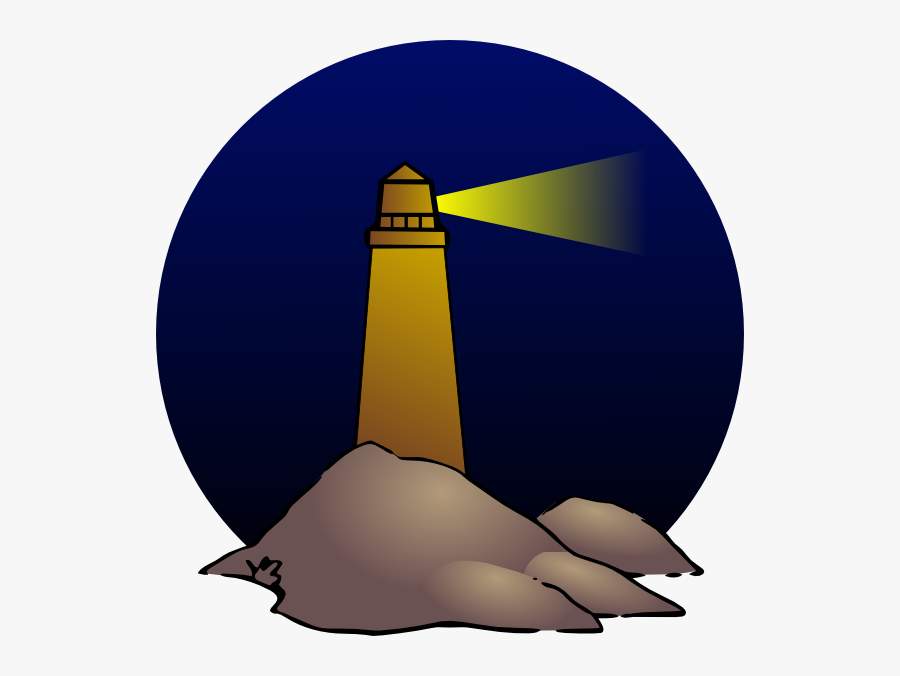 Lighthouse At Night Clipart, Transparent Clipart