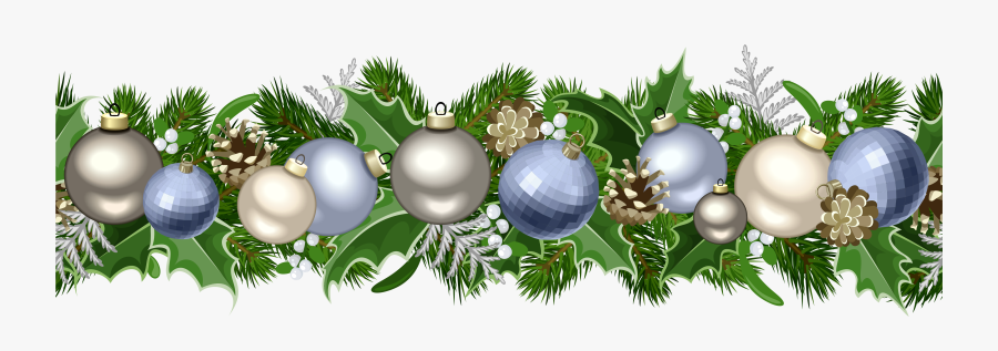 Christmas Deco Garland Png Picture Blue Christmas Garland