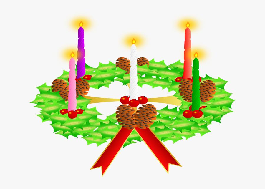 Clipart Of Christmas Wreaths - Imagen De La Corona De Adviento, Transparent Clipart