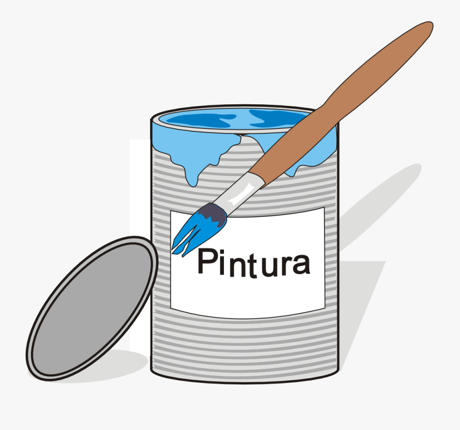 Free Vector Aidiagre Paint Tin Can And Brush Clip Art - Cartoon Paint Tin, Transparent Clipart