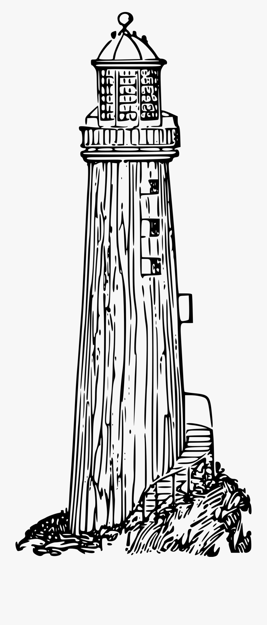 Clipart - Lighthouse Drawing Png, Transparent Clipart