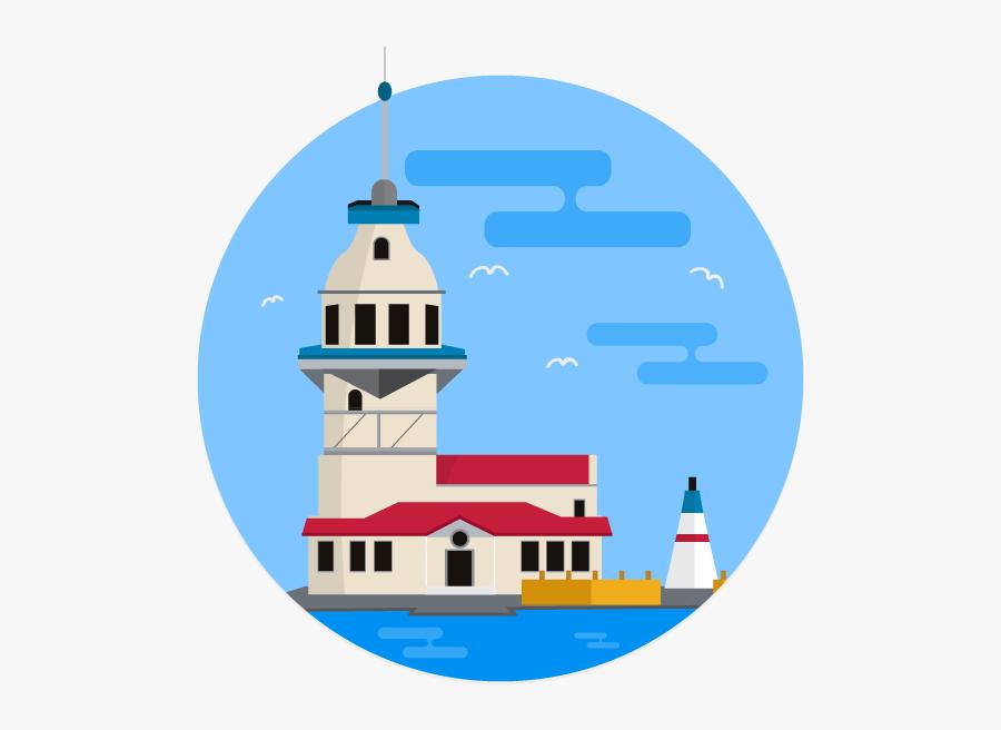 Transparent Organized Clipart - Lighthouse, Transparent Clipart