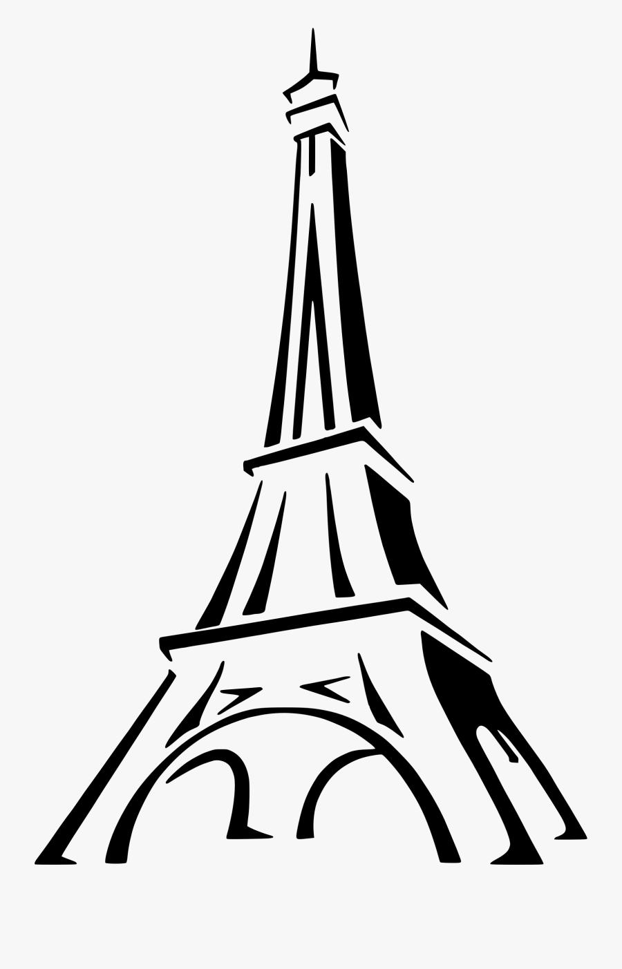 Clipart Eiffel Tower 2 Clipartandscrap - Eiffel Tower Logo Png, Transparent Clipart