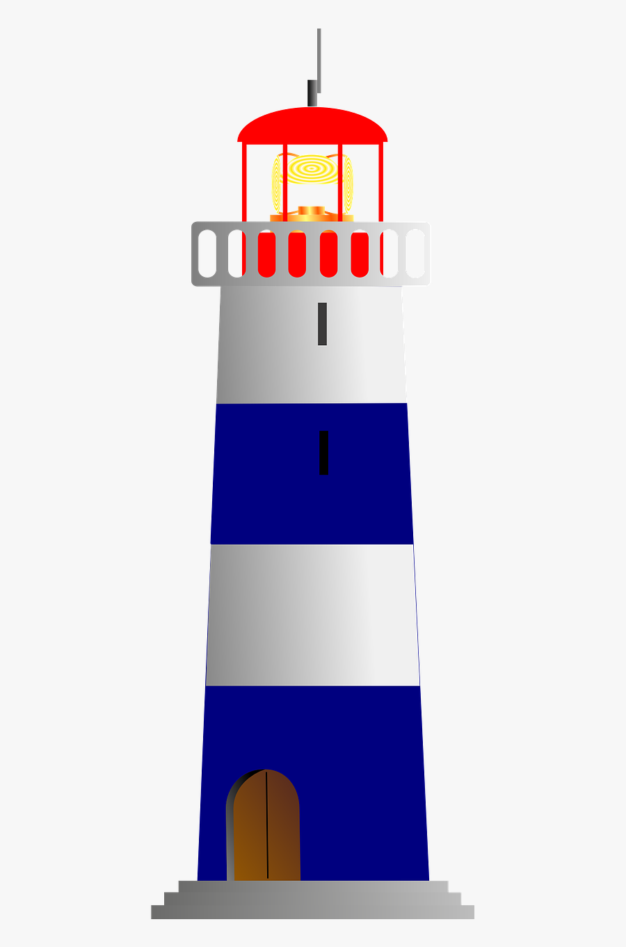 Clip Art Vector Graphics Openclipart Free Content Illustration - Lighthouse Clip Art, Transparent Clipart