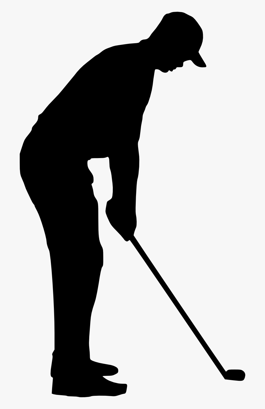 Golfing Clipart Retro Sport - Transparent Black And White Golf Bag Clipart, Transparent Clipart