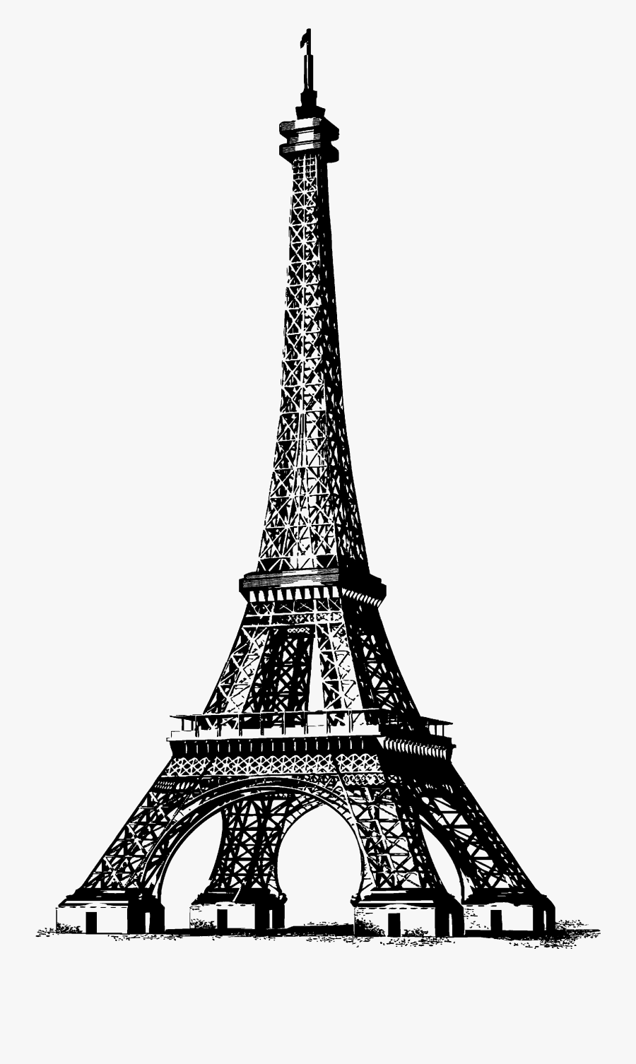 Eiffel Tower Free Download Clip Art Free Clip Art - Realistic Eiffel Tower Drawing, Transparent Clipart
