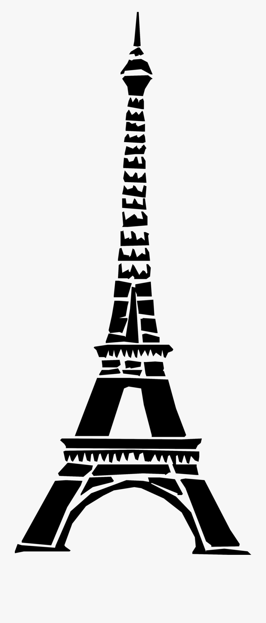 Art Black And White Paris Fra - France Eiffel Tower No Background, Transparent Clipart