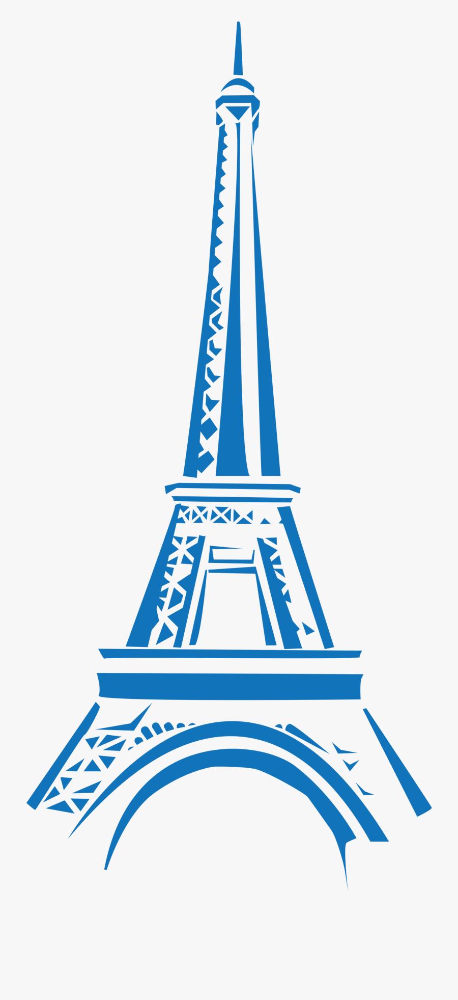 Eifel Tower Blue Clipart - Eiffel Tower Logo Png, Transparent Clipart
