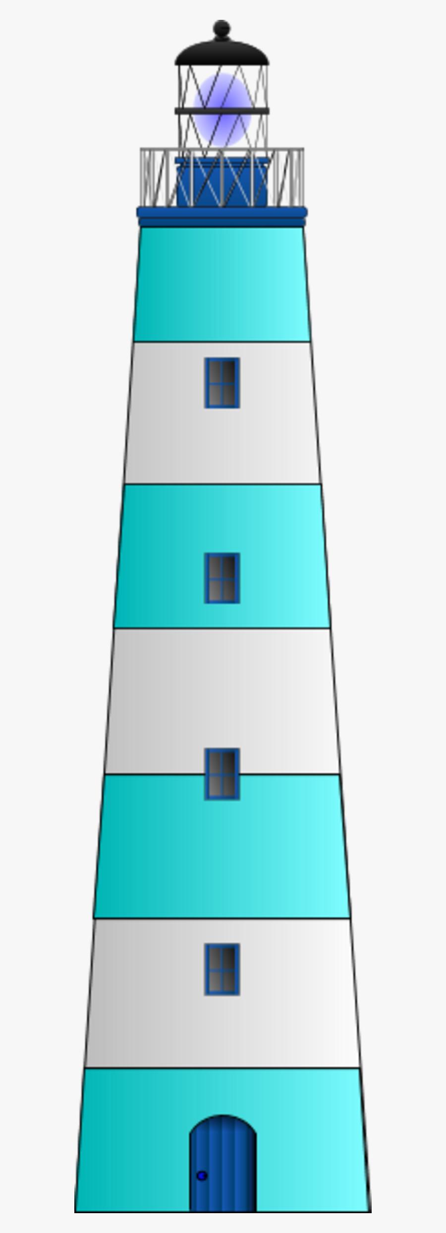 Building Clipart Blue Lighthouse Clipart Gallery ~ - Cartoon Blue Lighthouse, Transparent Clipart