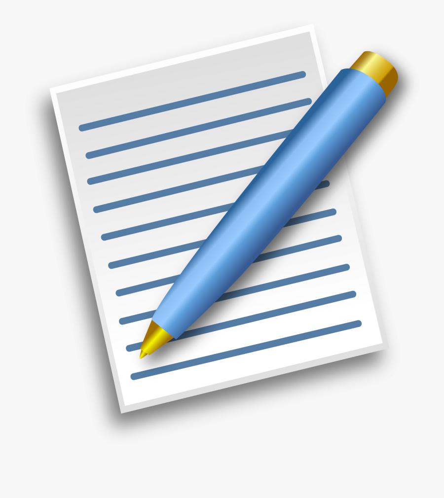 School - Supplies - List - For - High - School - Paper And Pen Clip Art, Transparent Clipart