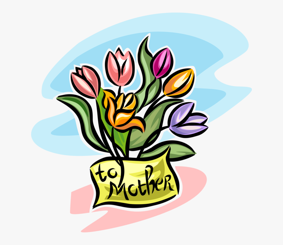 Transparent Mothers Day Flowers Clipart - Mother's Day Clip Art, Transparent Clipart