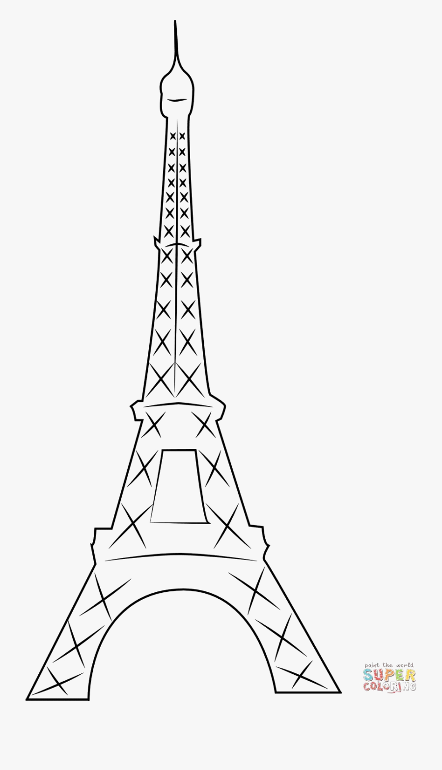 Eiffel Tower Silhouette Png Pic - Eiffel Tower Outline, Transparent Clipart