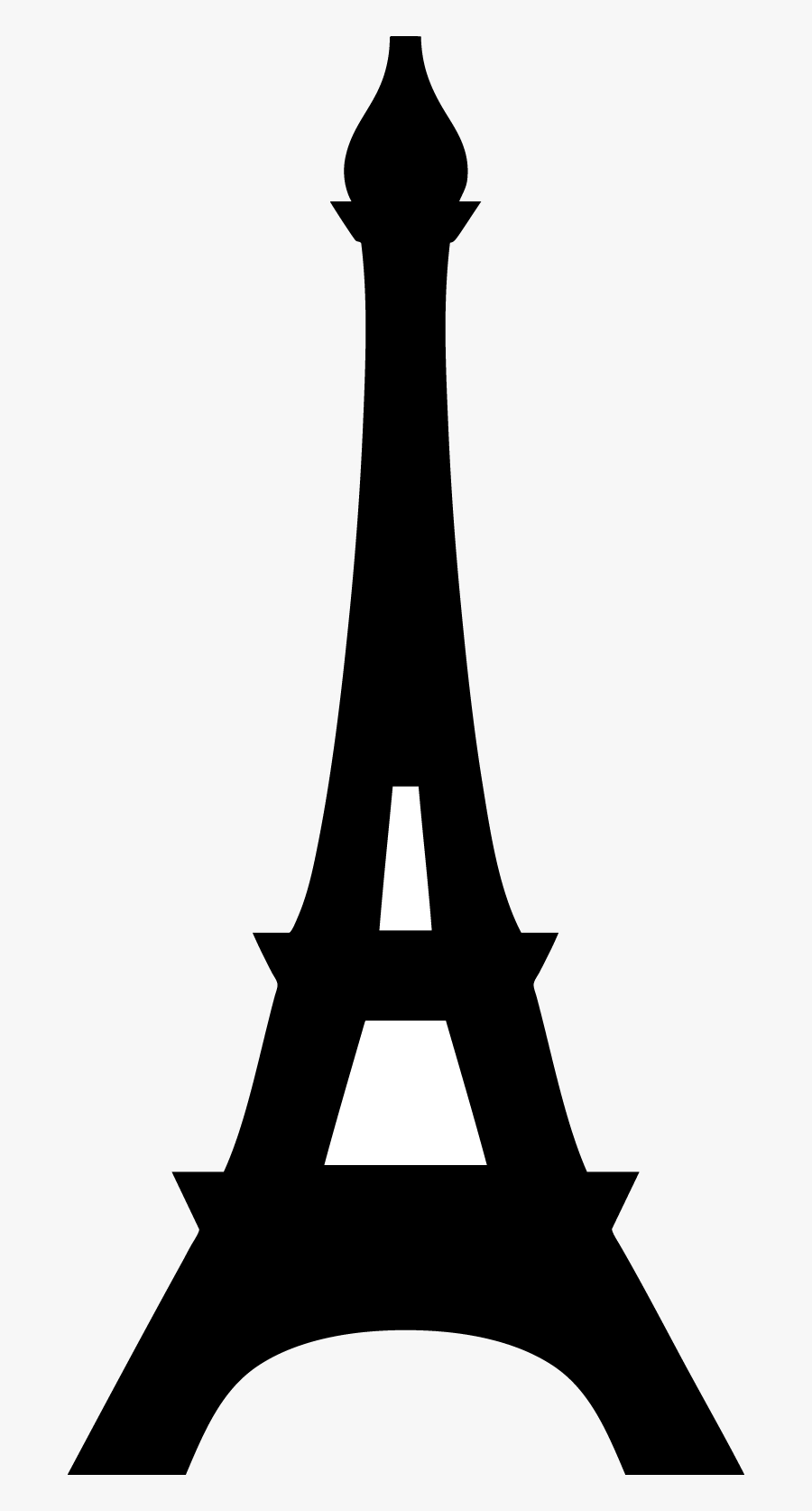 Clip Art Eiffel Tower Girls - Eiffel Tower Outline, Transparent Clipart