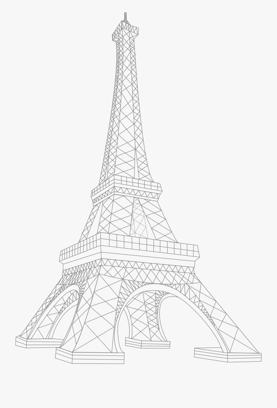 Paris Tower Drawing At Getdrawings White Eiffel Tower- - White Eiffel Tower Png, Transparent Clipart