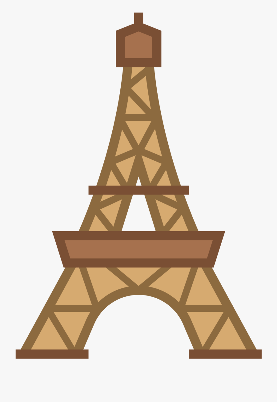 Tower Clipart Eiffel - Eiffel Tower Top Png, Transparent Clipart