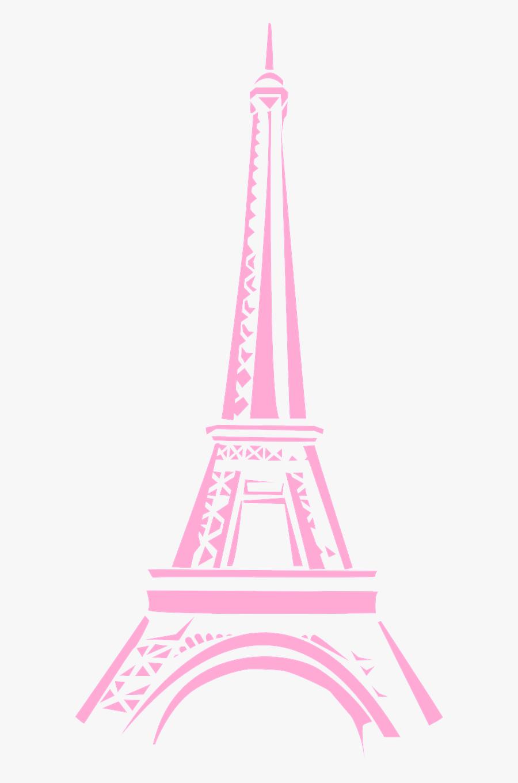 Eiffel Clipart Pink - Cute Eiffel Tower Png, Transparent Clipart