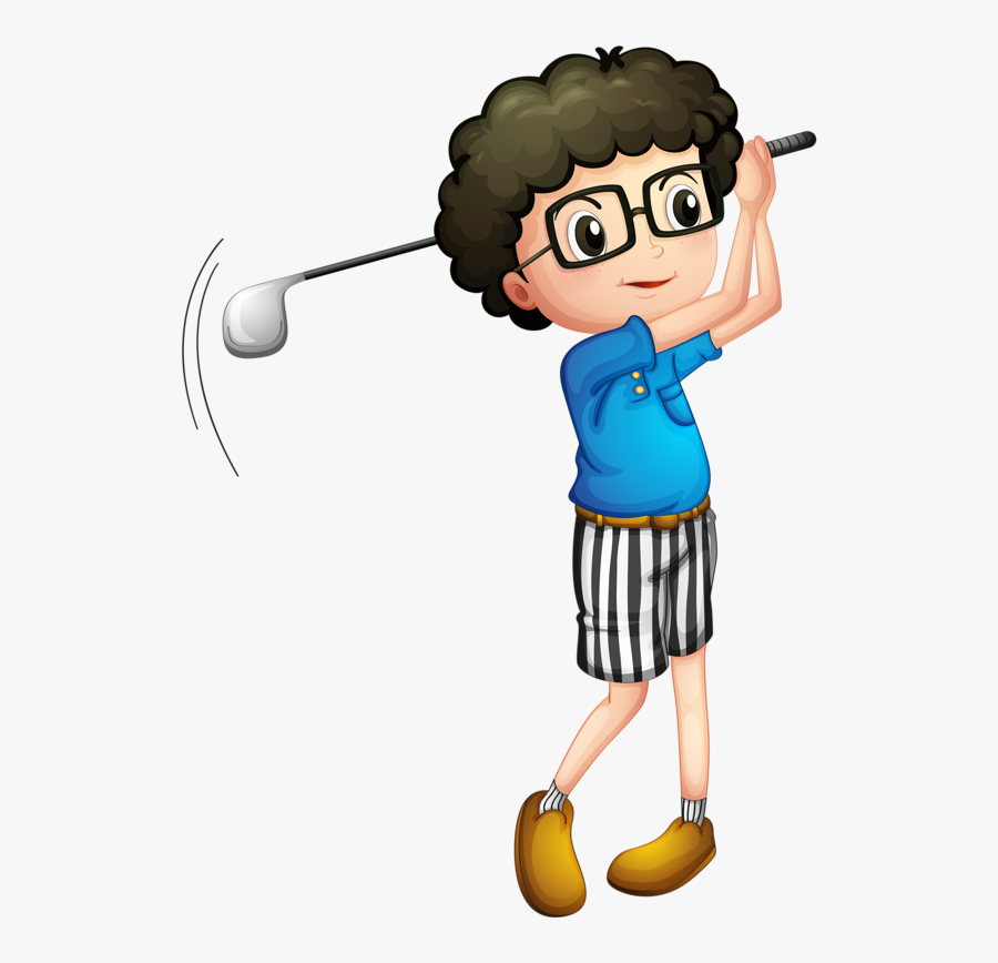 Golf Clipart , Png Download - Boy Playing Golf, Transparent Clipart