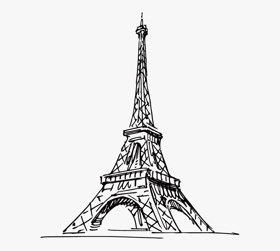 Clip Art Paris Eiffel Tower Drawing - Eiffel Tower Drawing Png, Transparent Clipart
